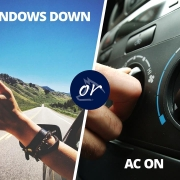 windows down or a/c